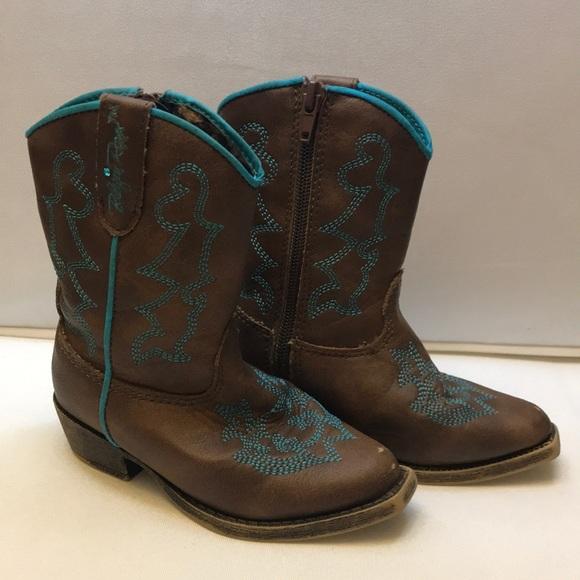 Blazin Roxx Other - Blazin Roxx toddler boots size 6 brown & blue